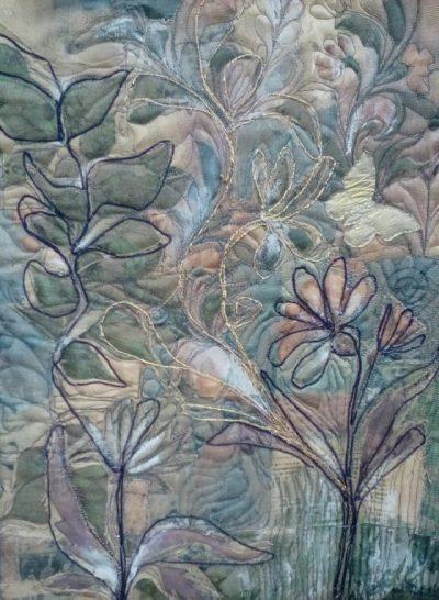 Collage van plantaardige elementen